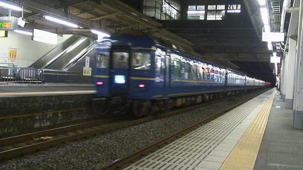 1レ北斗星キャプチャー画像(白岡駅)その2